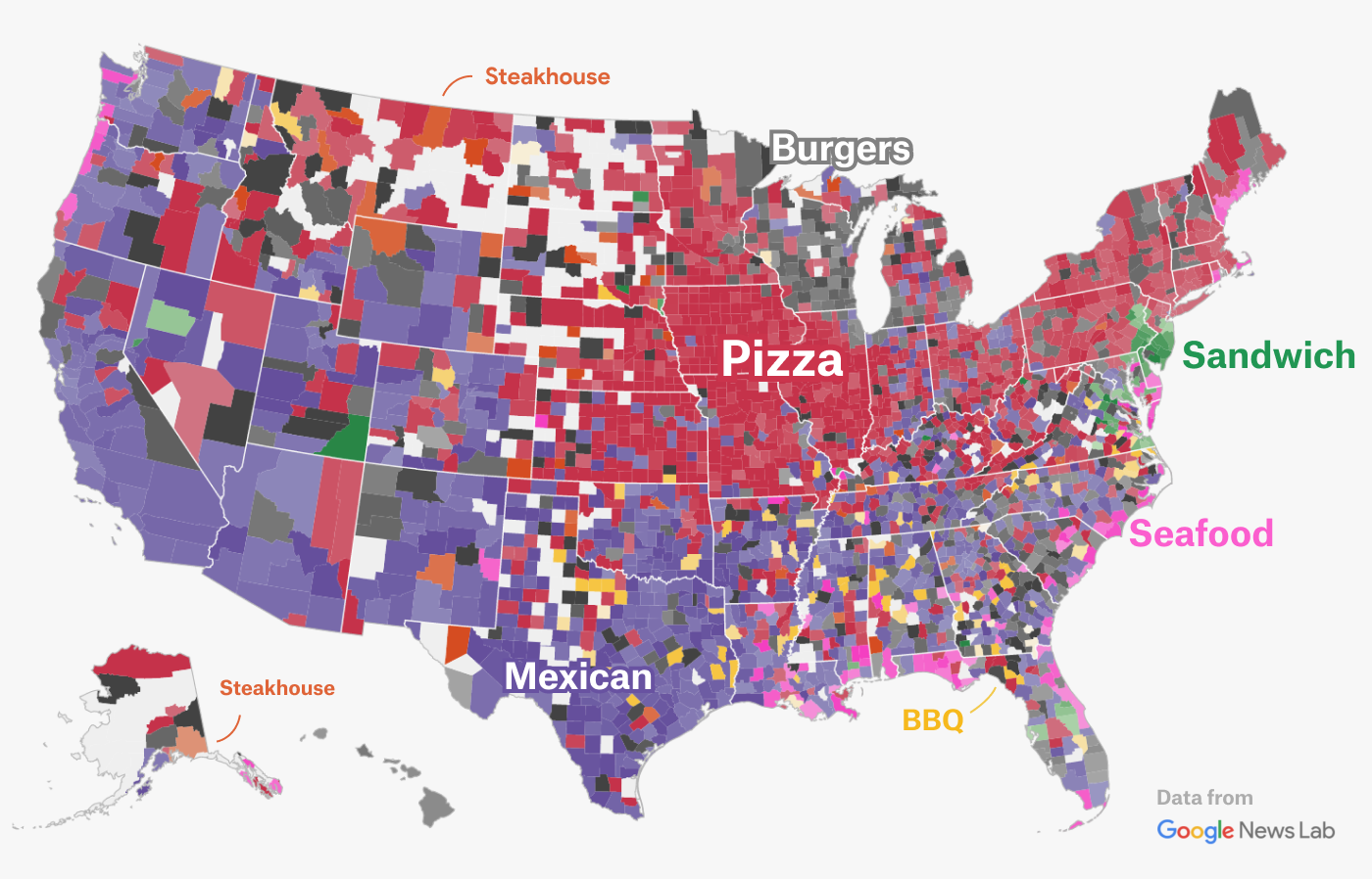 mapping gastronomic borders in the us