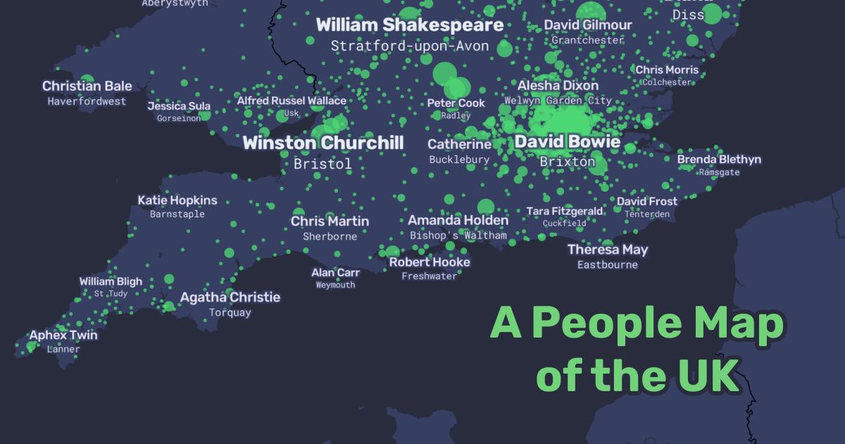 The Map Of Uk.A People Map Of The Uk